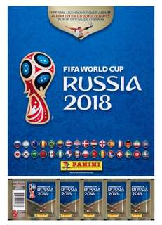 Panini Fifa World Cup 2018 Russia Sticker Book Package