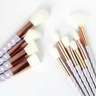 White Unicorn Brush Set