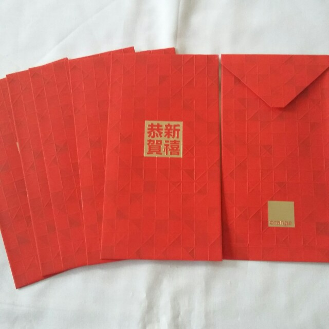 6 pcs *Orange* Red Packet / Ang Pow / Ang Pao / Hong Bao