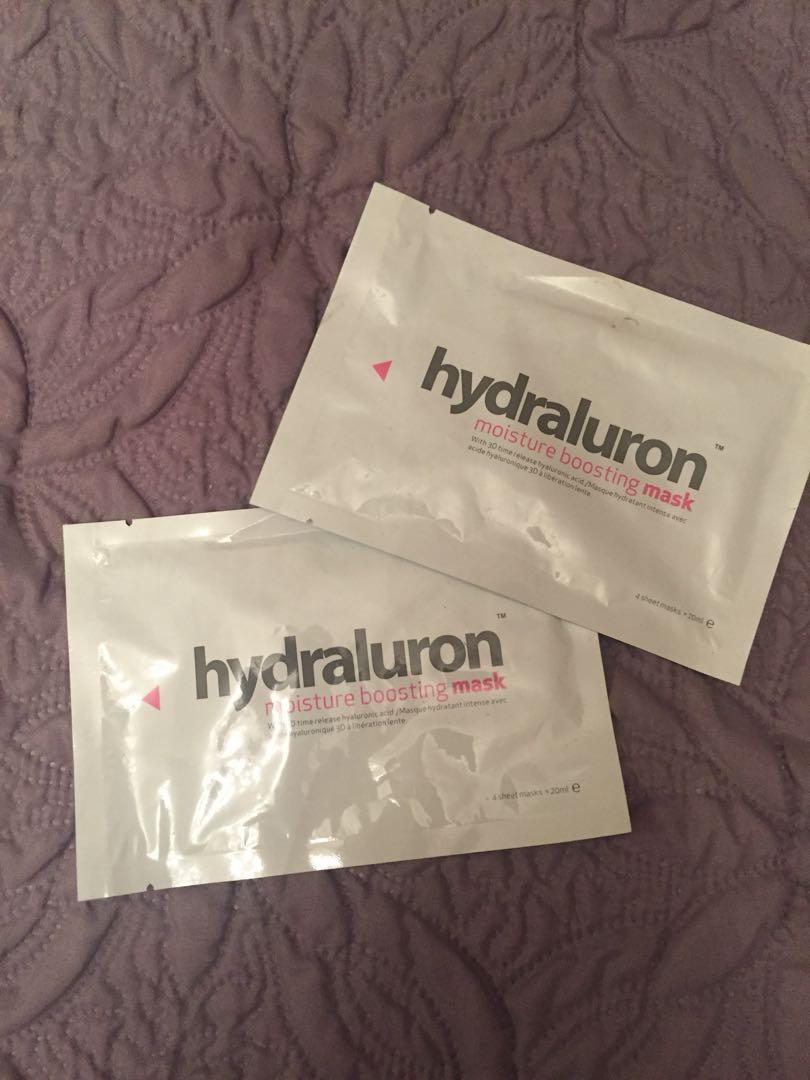8x Hydraluron face masks