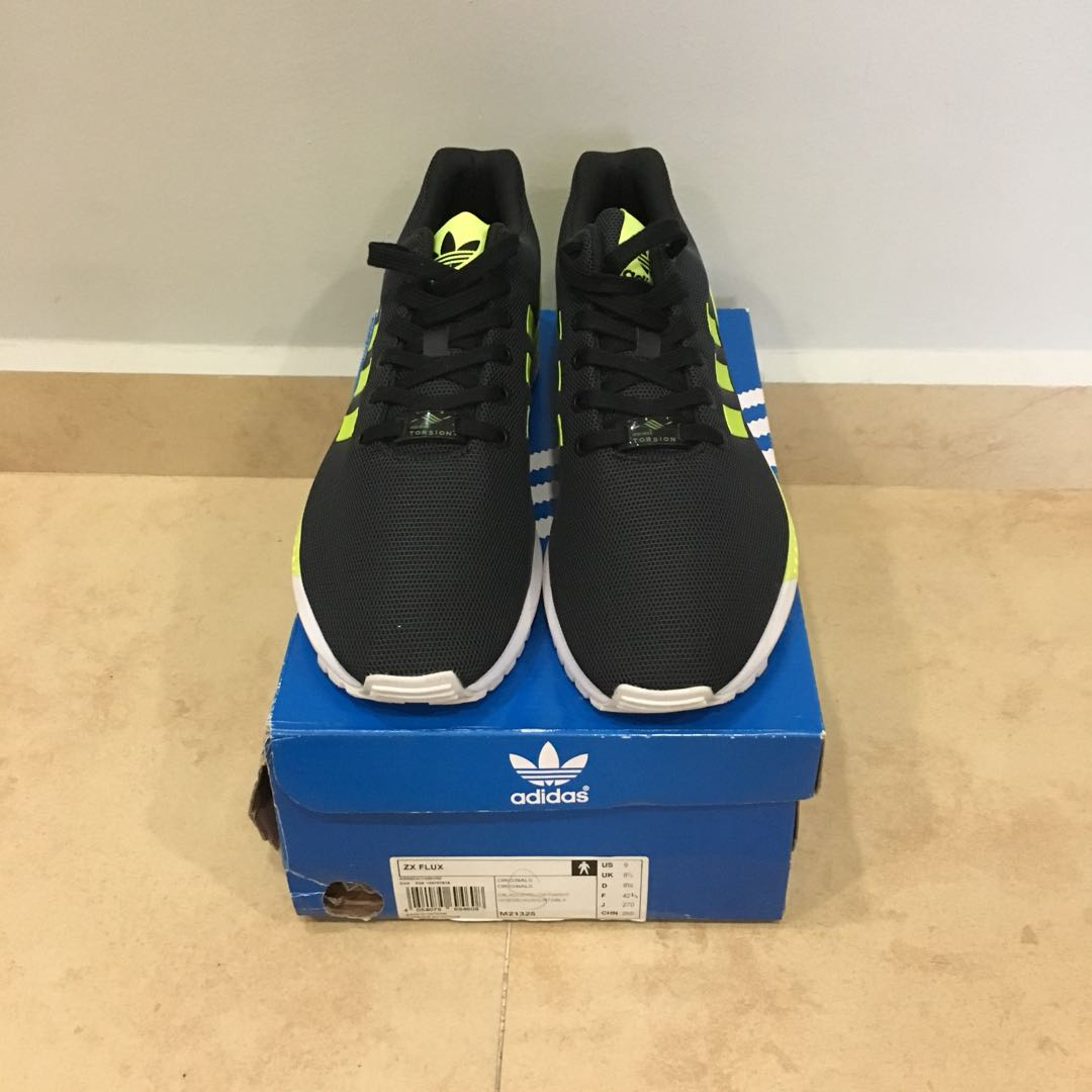 new concept 8a0f4 e67e9 Adidas Originals ZX Flux Black/Volt