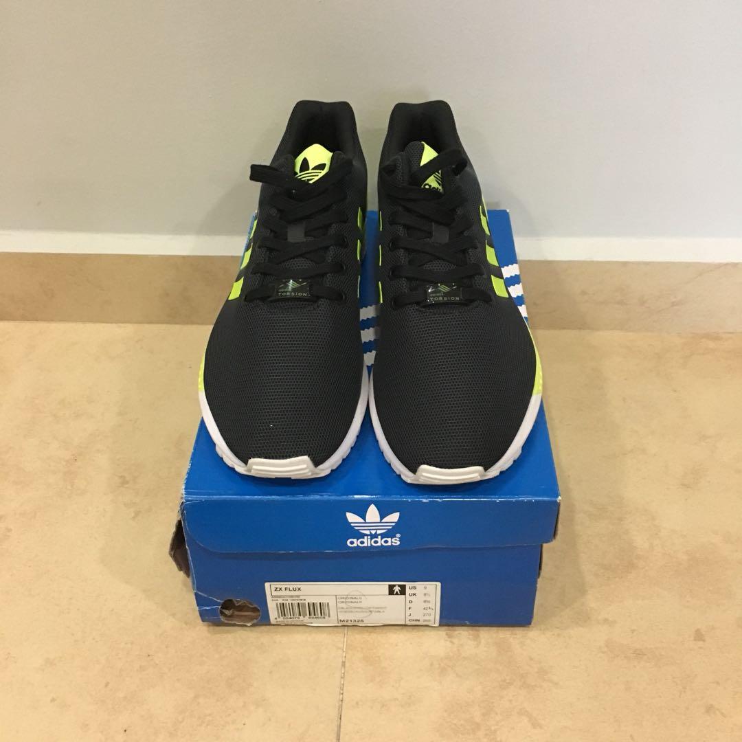 new concept 5ff1b f0293 Adidas Originals ZX Flux Black/Volt