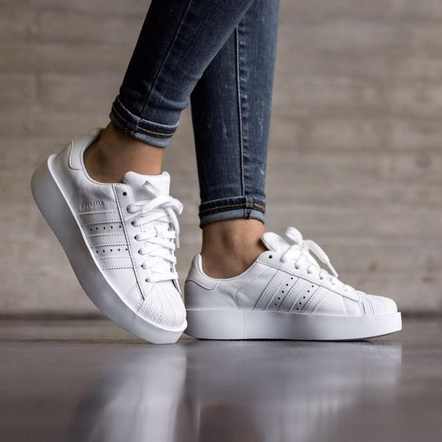 <Adidas Superstar Bold - Triple White> BA7668, Women's Fashion, Shoes on Carousell