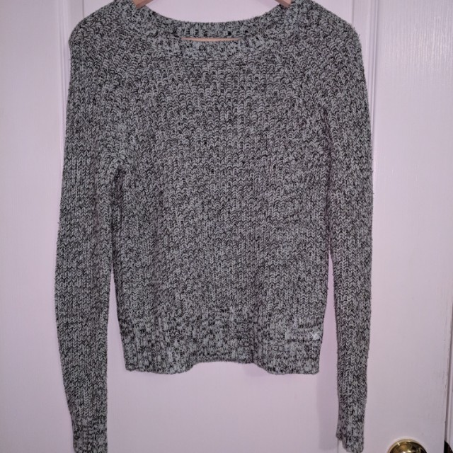 American Eagle Green/Black/White Knit Sweater