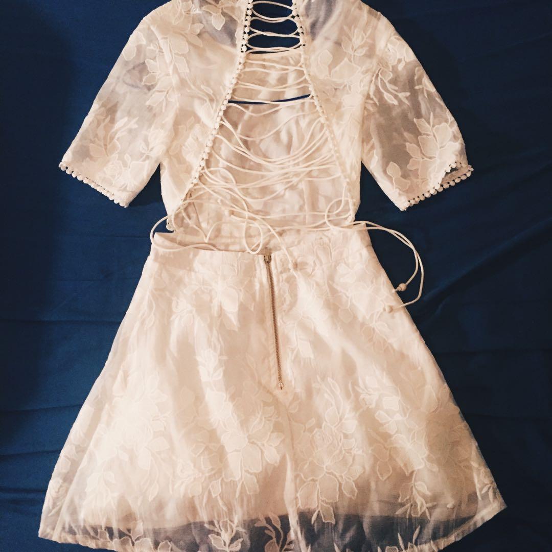 Angel Biba White Dress