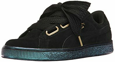 quality design 44be9 b8c21 Authentic Rihanna Puma Basket Women Suede Heart Satin Fashion Sneakers/  Shoes In Black