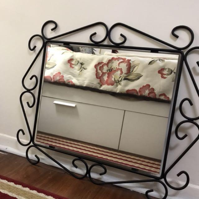 Beautiful Black Framed Mirror