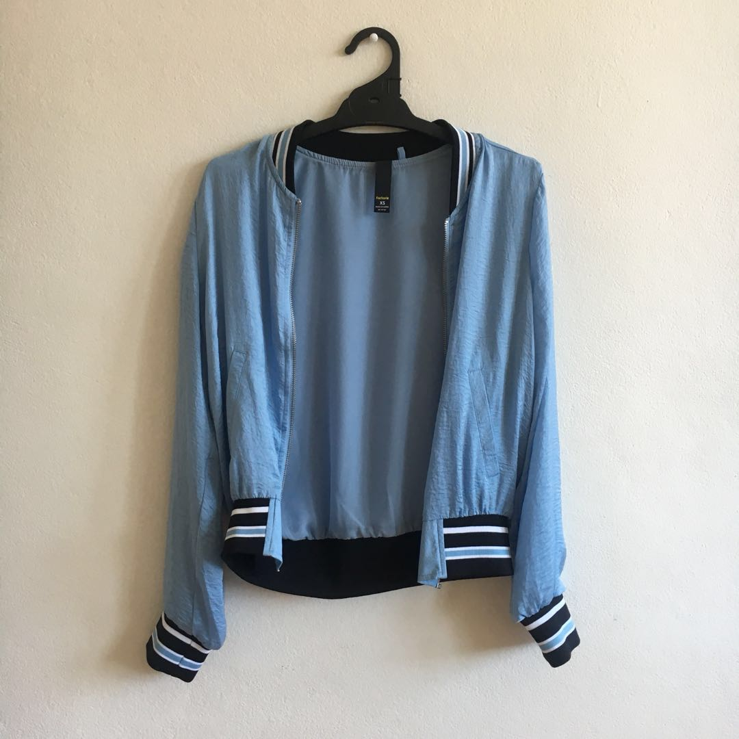 Blue Satin Jacket