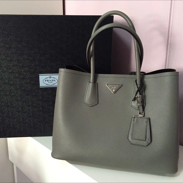 111727132fe3 BRAND NEW Prada saffiano cuir double bag, Luxury, Bags & Wallets on ...