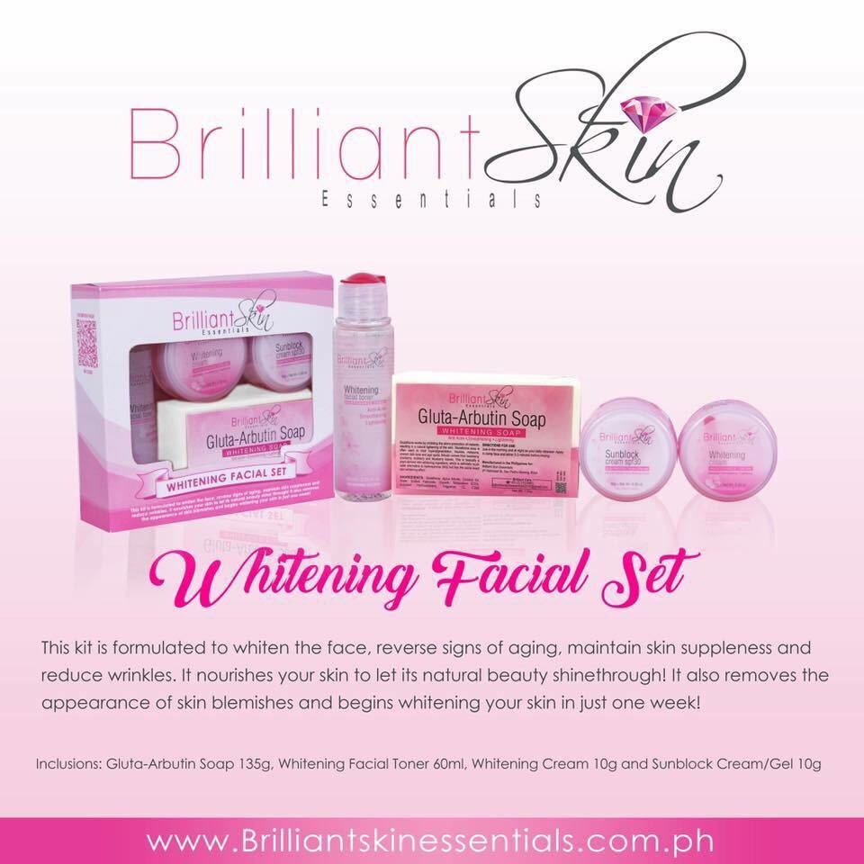 Brilliant Skin Whitening Set Health Beauty Bath Body On Jelly Pink Arbutin Carousell