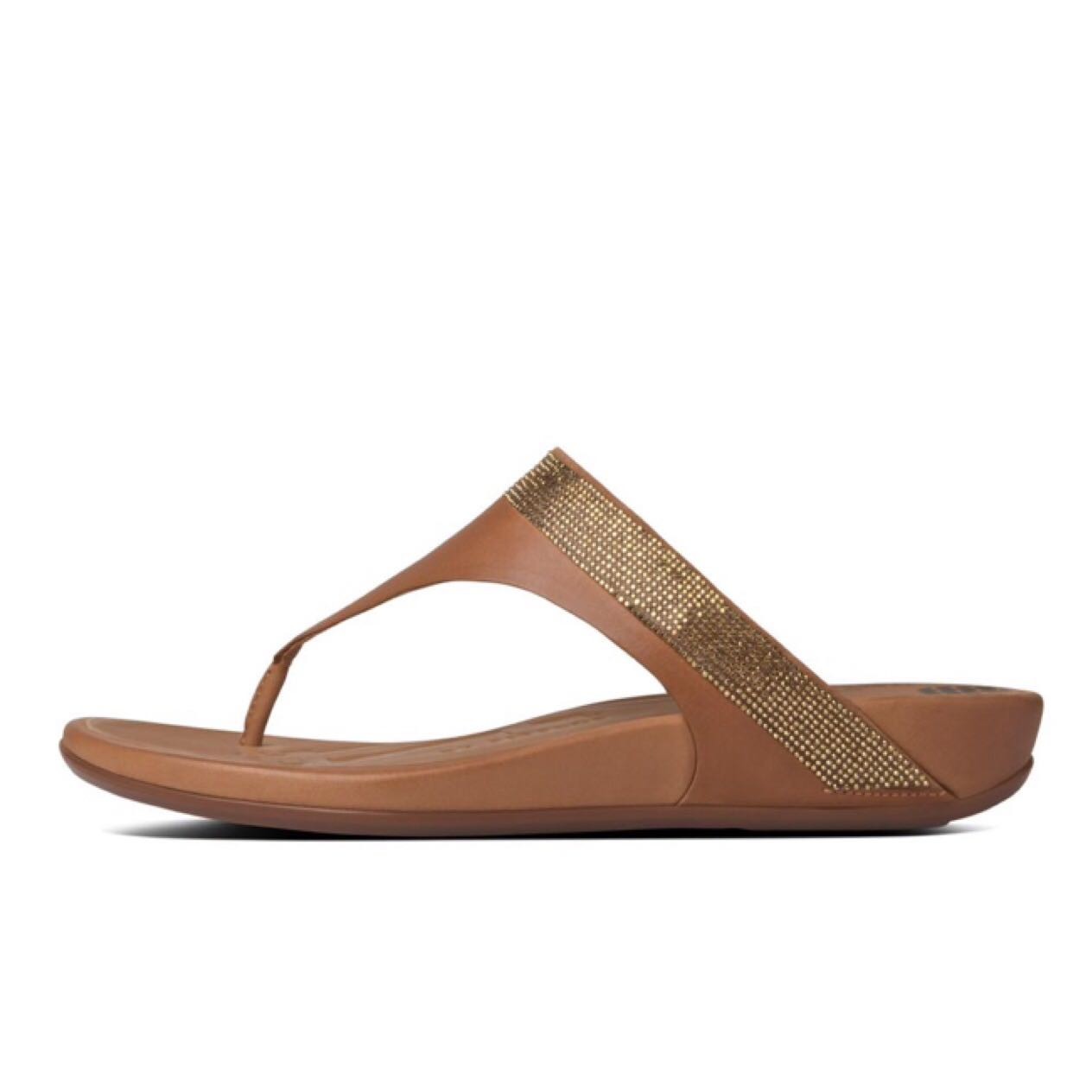 ce393a243253 FitFlop Banda Crystal Leather Toe Thong Sandal