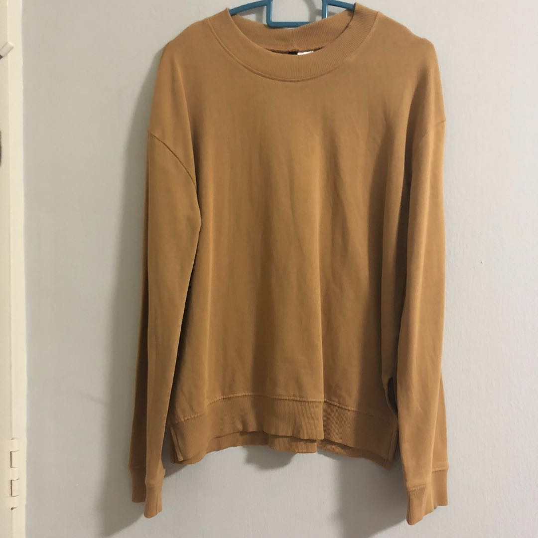 7e4687382a6f3 hm basic pullover in khaki brown 1522344389 b999051d.jpg