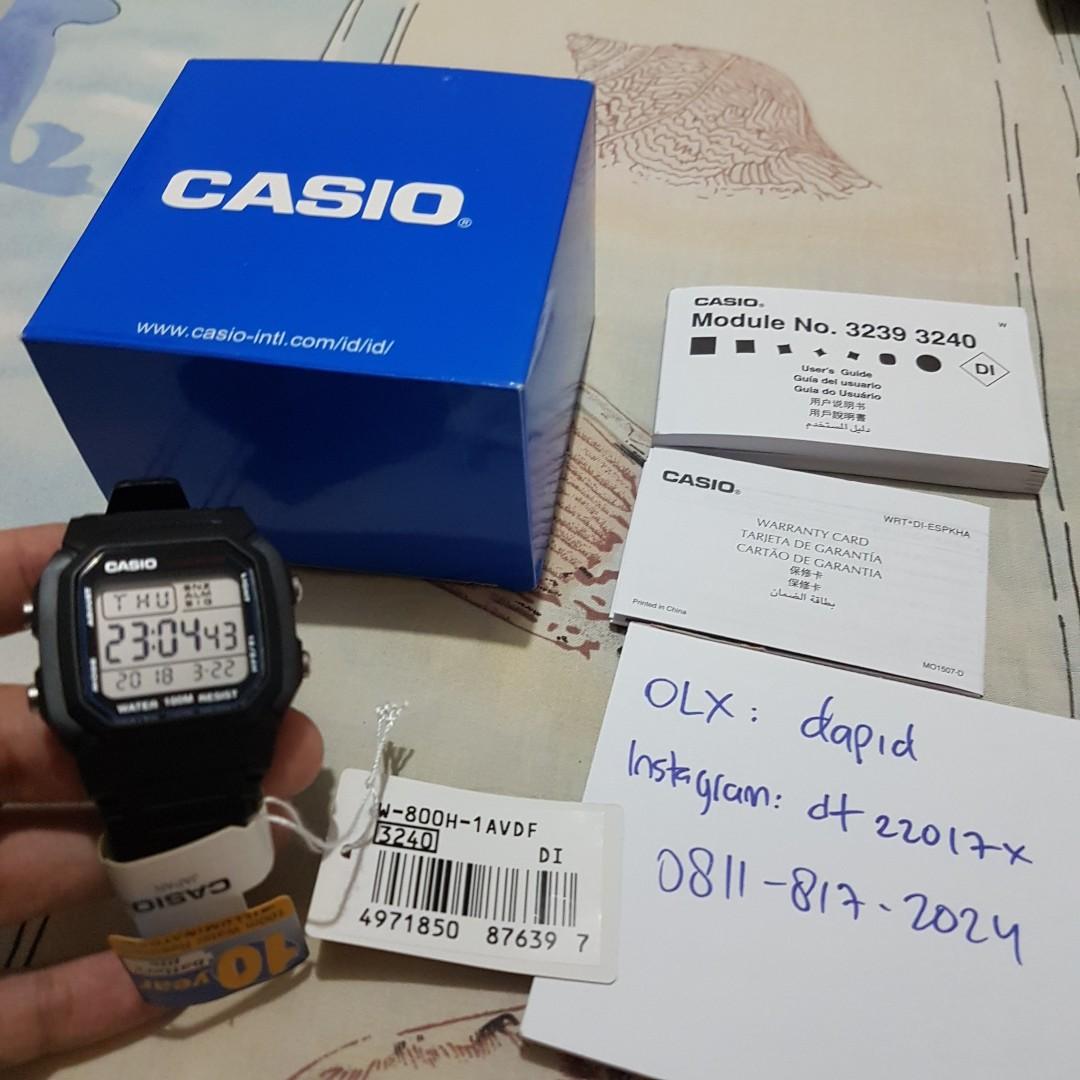 jam tangan pria wanita digital casio w-800 w800 original bukan seiko daniel  wellington 55391c6086