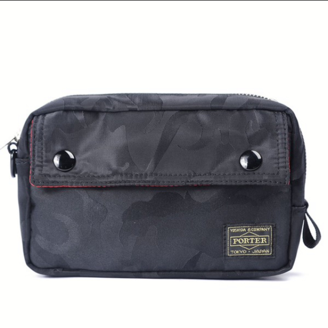 Japan Yoshida Porter Clutch Bag (Camo Black 495043227ebfe