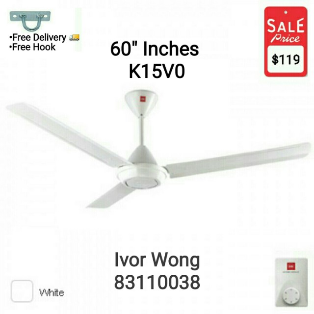Kdk ceiling fan 3 blades k15v0 150cm60 home appliances on carousell photo photo photo photo aloadofball Images