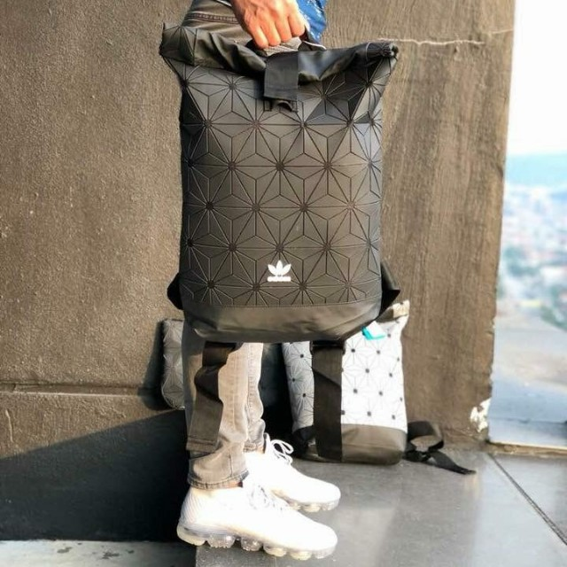 Limited Edition) Adidas X Issey Miyake 3D Urban mesh roll up bagpack ... 22c3cf3bf16e2