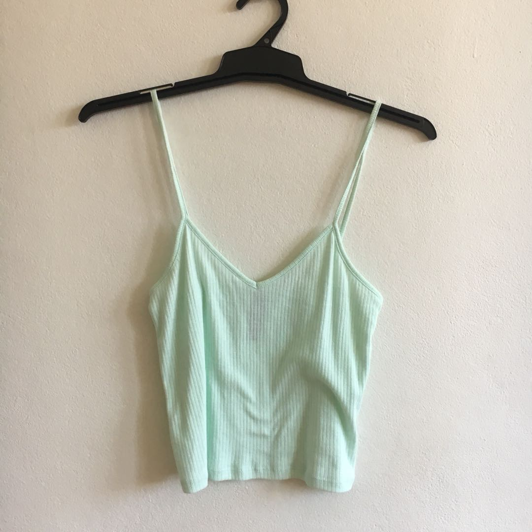 Mint V neck top