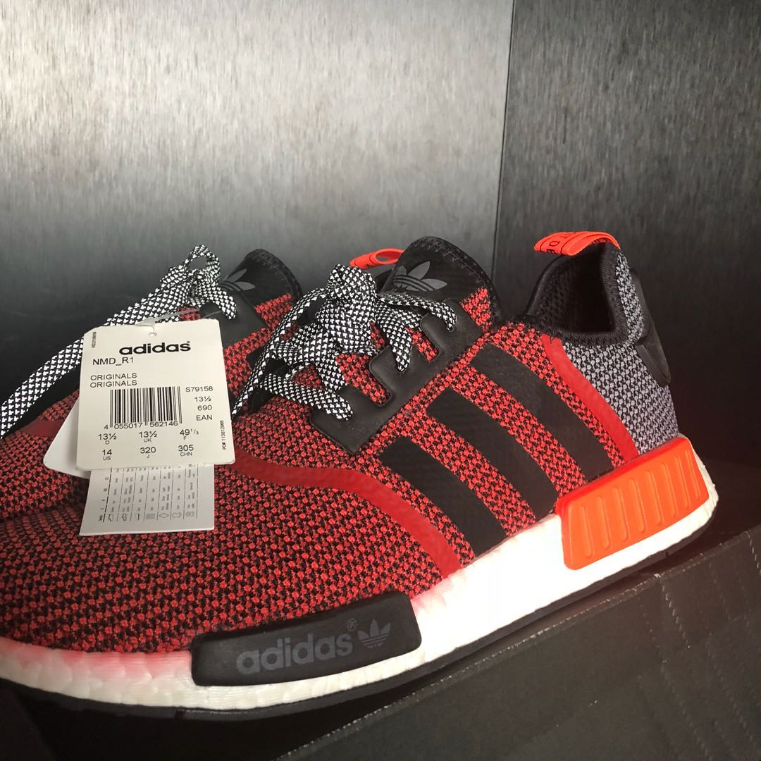 d475d65e1 NEW Adidas NMD r1 lush red deadstock