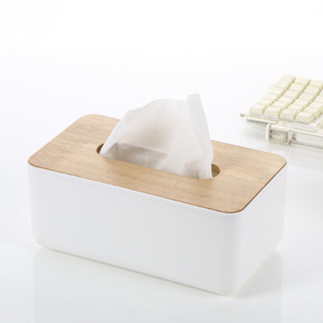 Nordic Wood Premium Minimalist Tissue Muji Table Box Holder ...