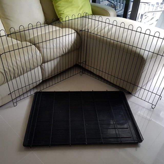 Pet's tray and 2 fences