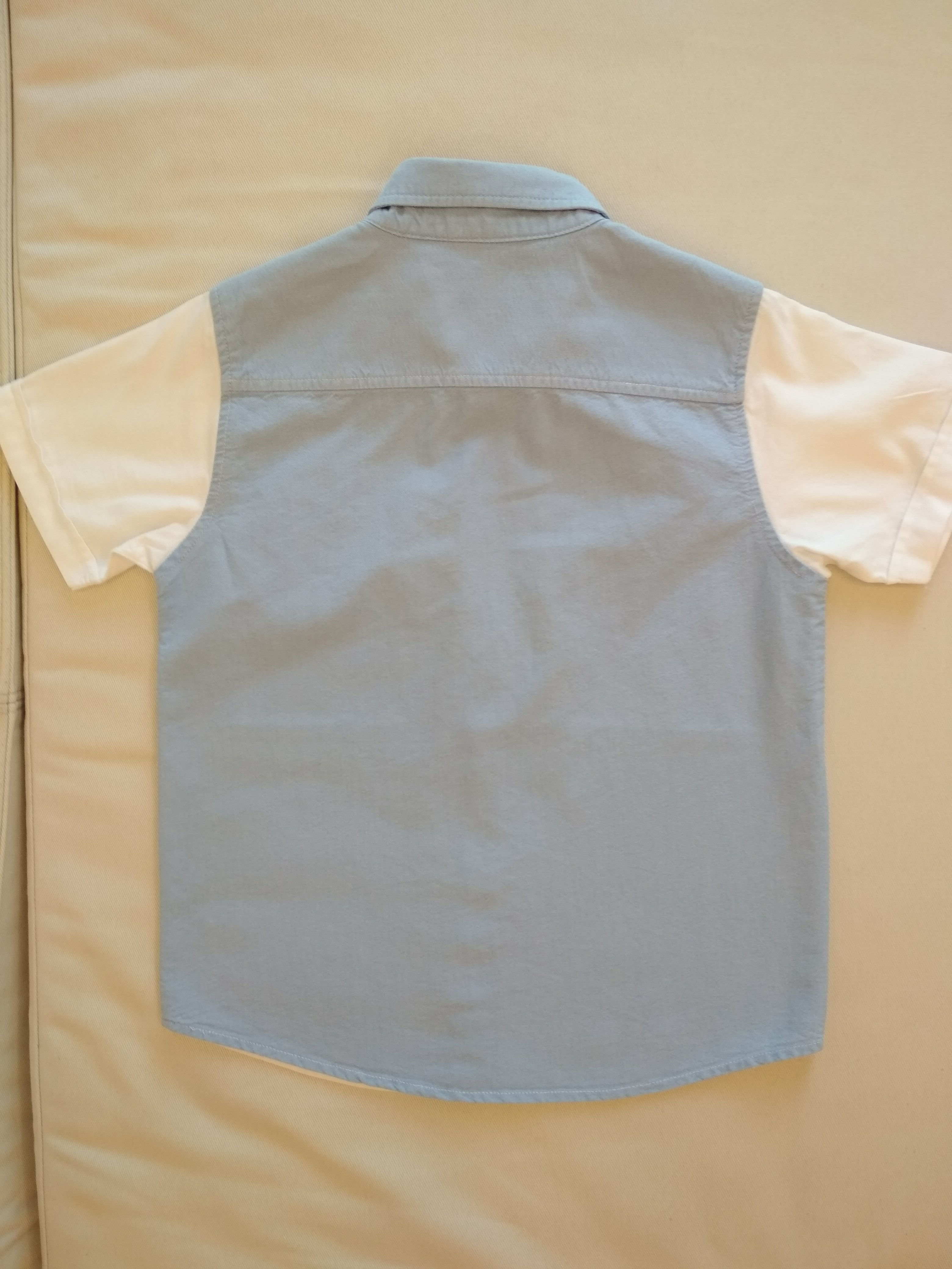 [PL] Carter's 6T Blue and White Shirt