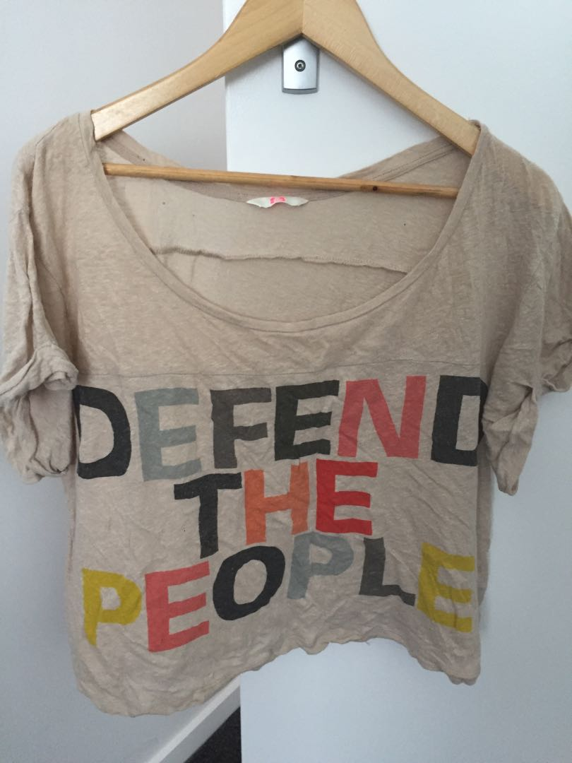 Sass and Bide defend the people tee