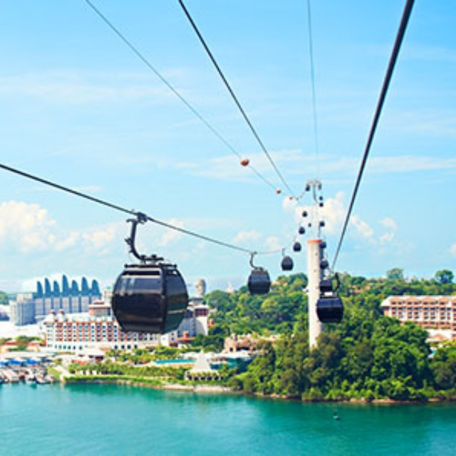 Sentosa Cable Car Round Trip Sky Pass Ticket & Wings Of