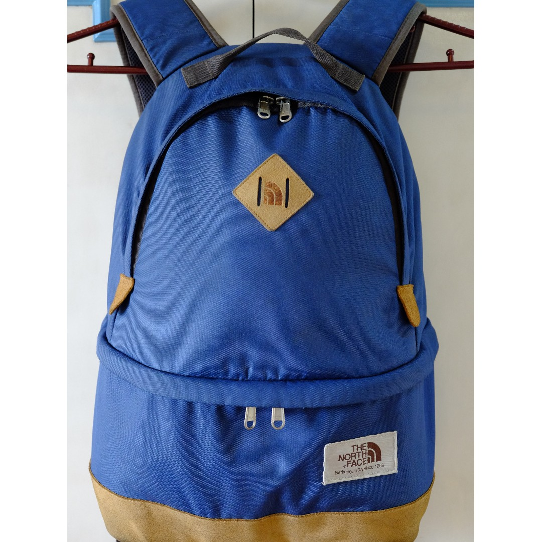 567fd8418 North Face Backpack Blue And Yellow - CEAGESP