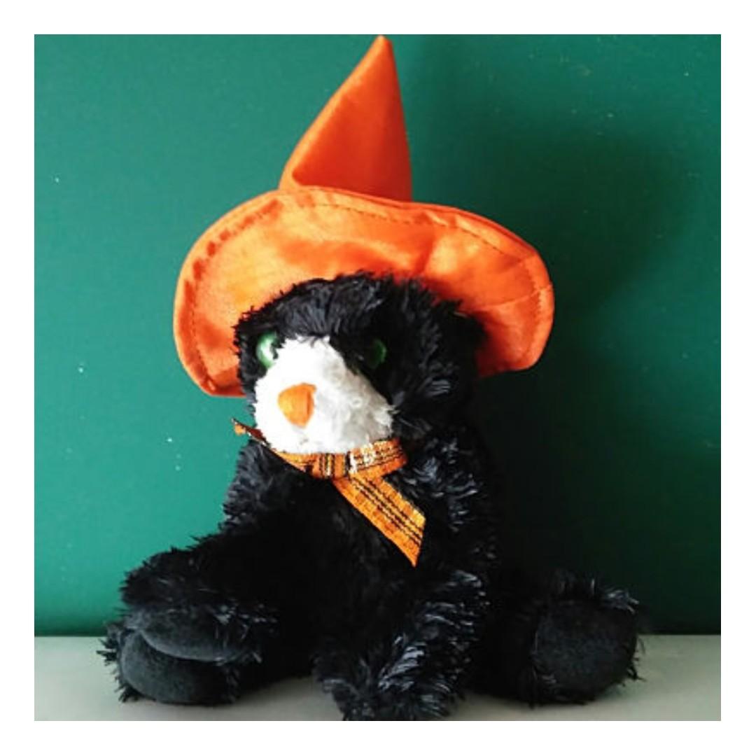 72fcec4db66 TY Halloweenie Beanie Baby SCREAMS the Cat (4 inch)
