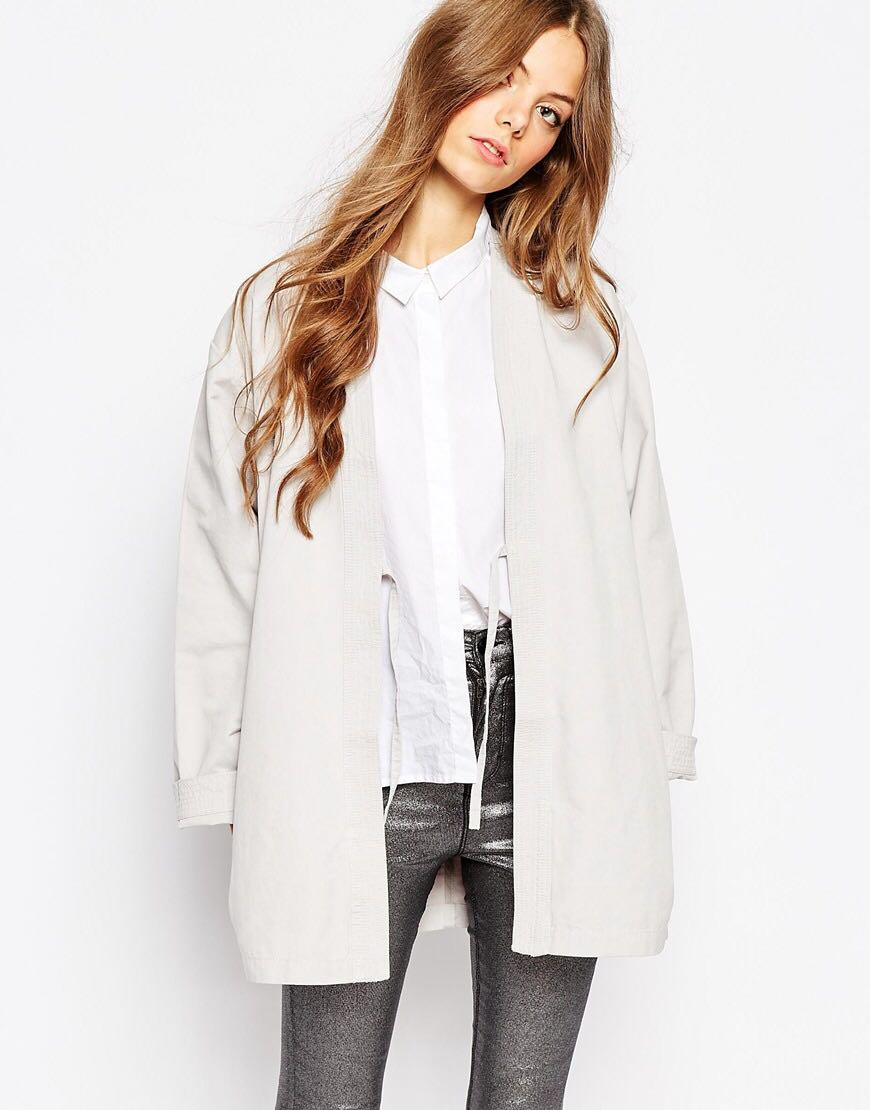 Waven Light Grey Unisex Kimono Jacket