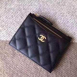 Chanel zipper card case