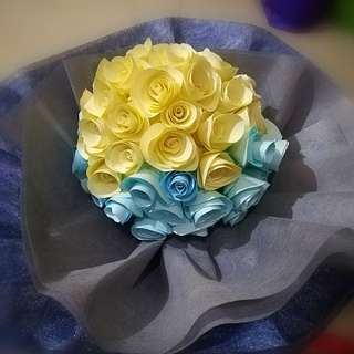 DIY paper flower bouquet 🌻🌼🌺