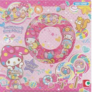 Sanrio My Melody Pink Inflatable 60cm Swimming Ring Float