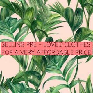 PRE LOVED CLOTHES