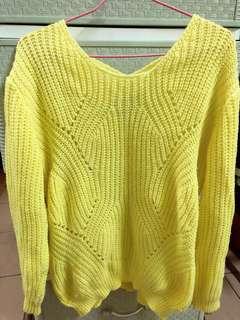 🚚 黃色針織毛衣