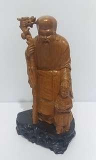 木雕壽星公