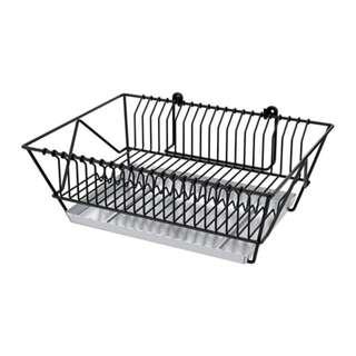 [IKEA] FINTORP Dish drainer, black, galvanised