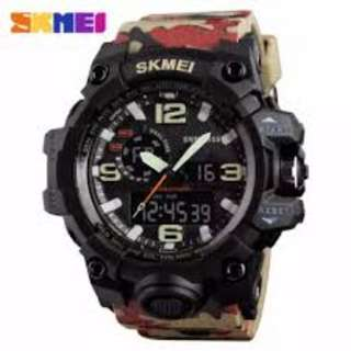 SKMEI AD1155 CAMOUFLAGE SILICON STRAP WATCH FOR MEN - COD FREE SHIPPING