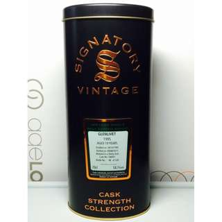 Signatory Glenlivet 1995 19Yrs Sherry Butt Speyside Single Malt Whisky