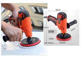 Brand new electric machine tool polishing  800w Car motorbike wax waxer grooming polish polisher sander set 6 speed 抛光机