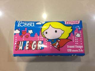 Tissue Paper with Super Girl