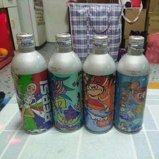 Pepsi 百事可樂 - 卡通鋁罐一套4款