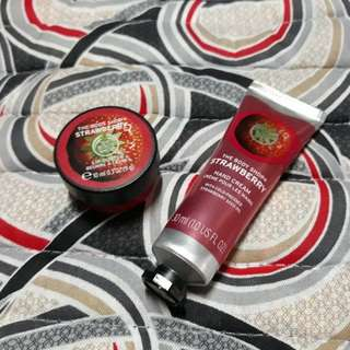 The Body Shop Strawberry Hand Cream and Lip Butter