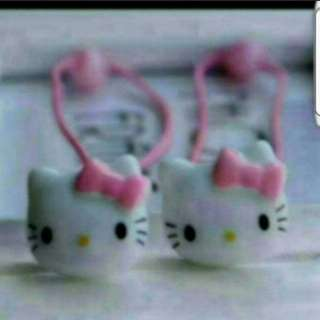 In Stock Hello Kitty Rubber Band Hair Tie And Hair Clips For Girls