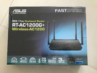 ASUS dual band router RT-AC1200G+ wireless