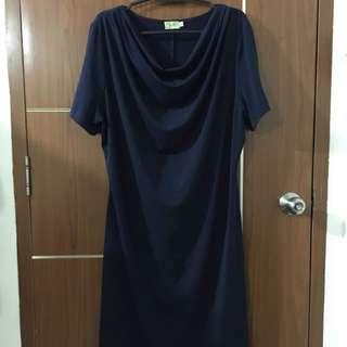 Full Bloom Navy Blue Dress