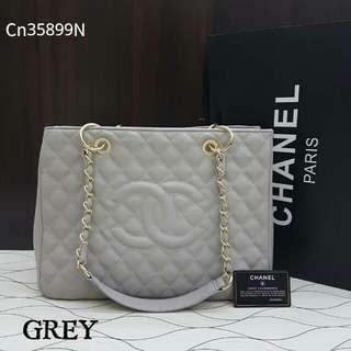 Chanel GST Caviar Light Grey Color