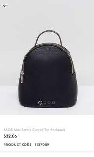 ASOS mini bagpack