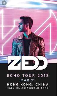 Looking for 31/3 ZEDD TICKET X2