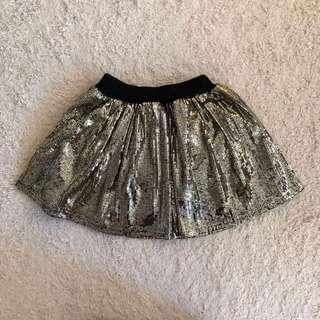 Gold Sequin Skirt sz 3-5years